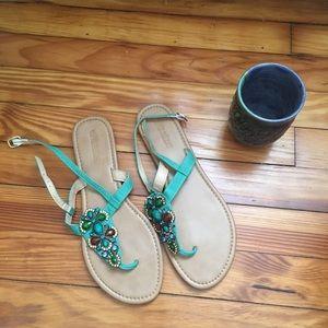 Olivia Miller jeweled flat sandals